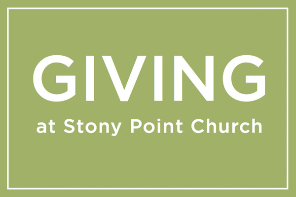 Giving at Stony Point Church